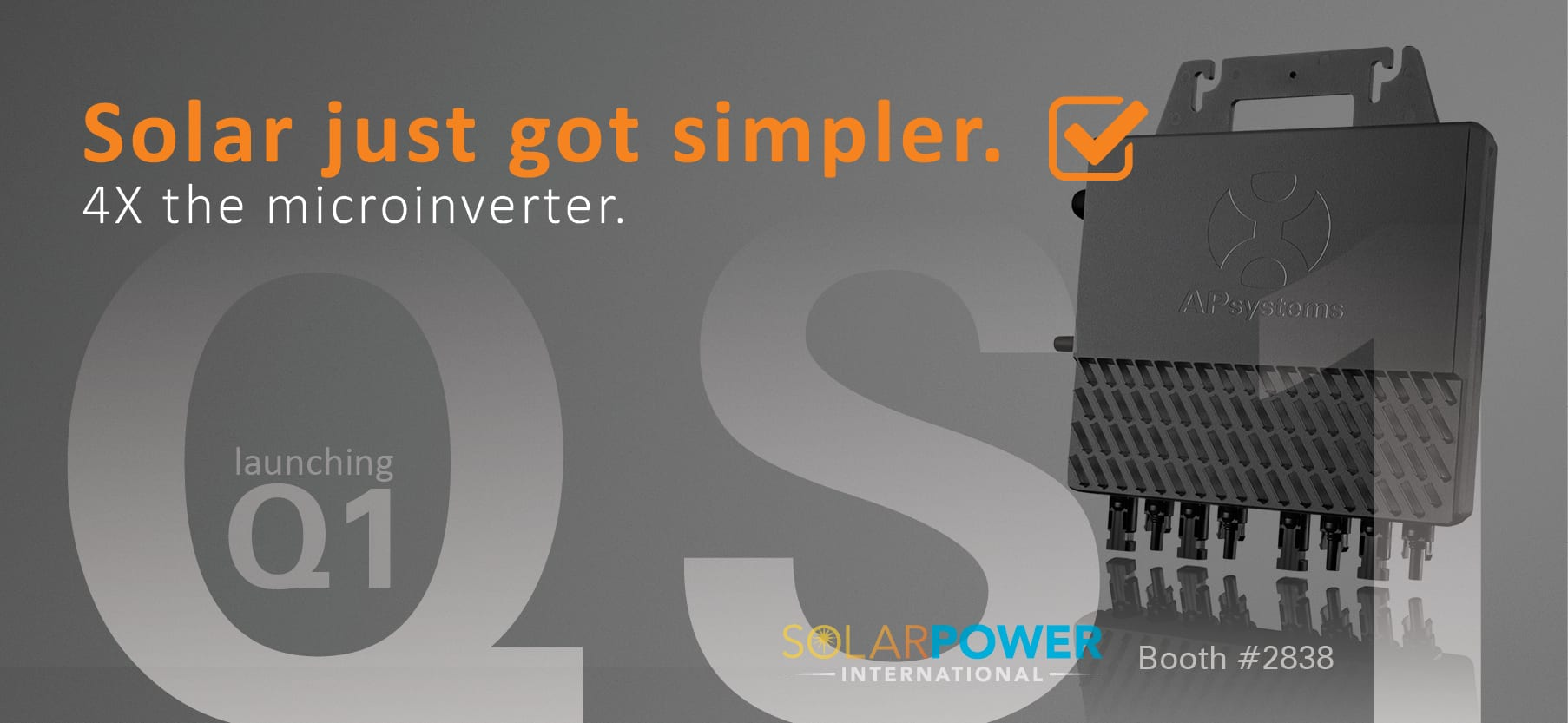 Apsystems To Launch Qs1 Four Module 1200w Microinverter At
