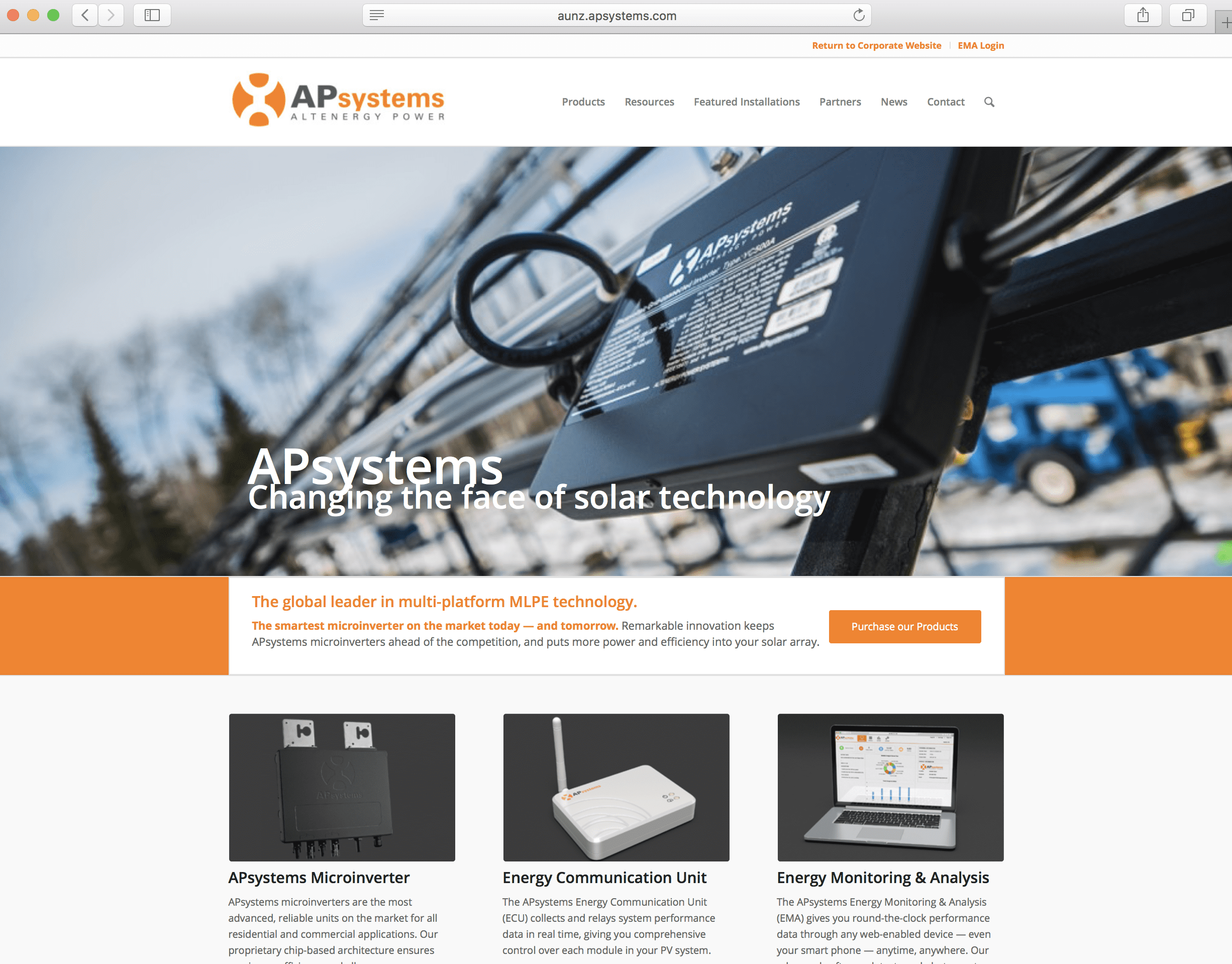 Apsystems The Global Leader In Multi Platform Mlpe Technology Solar Microinverter Panel System Design Electronic Products Launches Website Servicing Australia And New Zealand